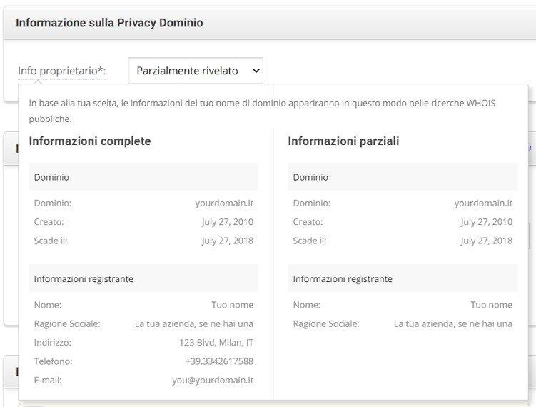 privacy dominio
